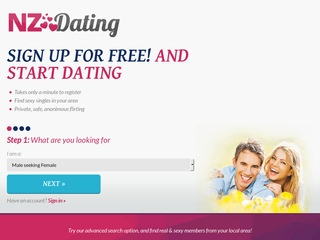 NZ Dating Homepage Image